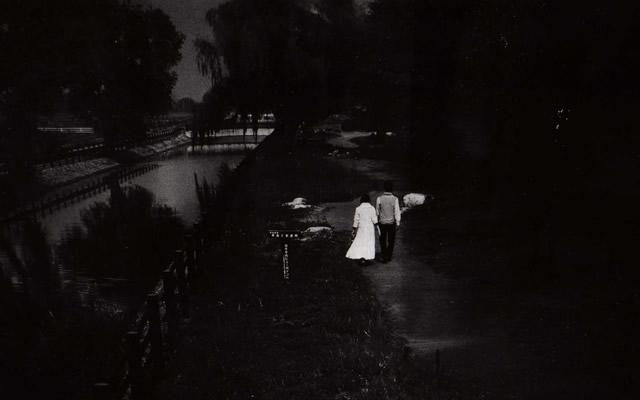 心霊スポット、一の谷公園にある消える釣り橋の画像